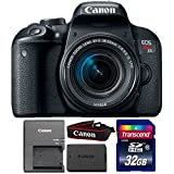 Canon EOS Rebel T7i 24.2MP Digital SLR Camera with 18-55mm IS STM Lens and 32GB Memory Card