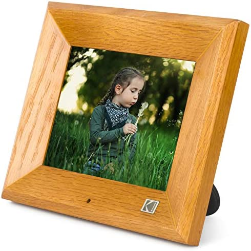 KODAK Wood Digital Picture Frame 8 inch 8GB Memory with Remote Control High Resolution Digital Photo Frame