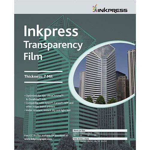 Inkpress ITF44100 Specialty Media Transparency Film 7 Mil 44in. X 100ft. Roll