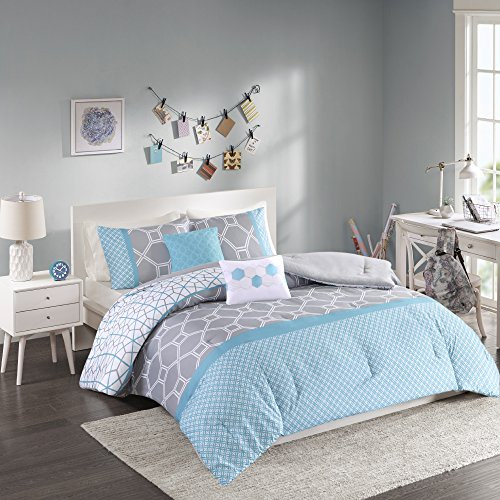 Intelligent Design Clara Comforter Set, Full/ Queen, Blue