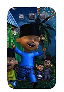 HYIMPZh3975Nzumc Awesome Kalau Upin Ipin Ni Tak Payah Cakap La Dah Memang Menjadi Fenomena Di Flip Case With Fashion Design For Galaxy S3 As New Year's Day's Gift