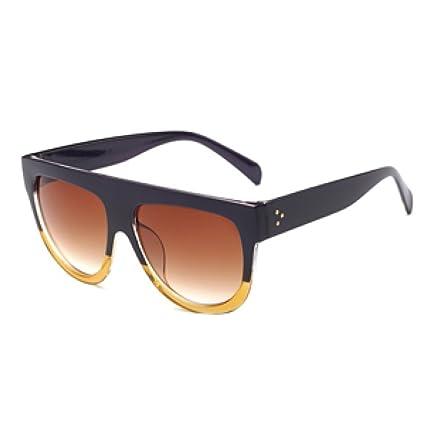 YUEER Caja Grande Gafas De Sol Moda Europa Y Estados Unidos Personalidad Gafas De Sol Moda
