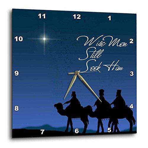 3dRose dpp_30754_3 Wise Men Still Seek Him Magi Following the Christmas Star Wall Clock, 15 by 15″ Review