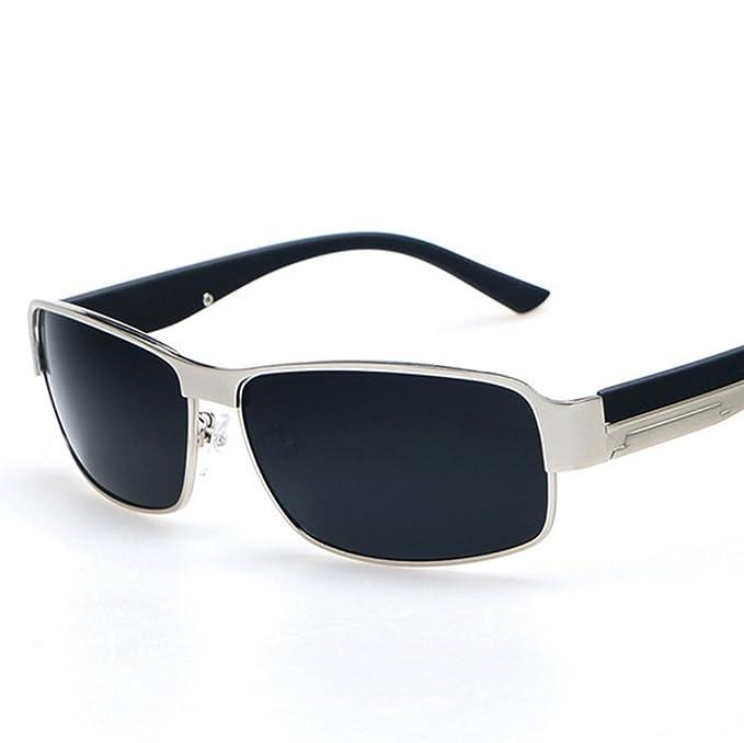 vidrios para hombre Hombres gafas de sol polarizaron, Marco cuadrado ...