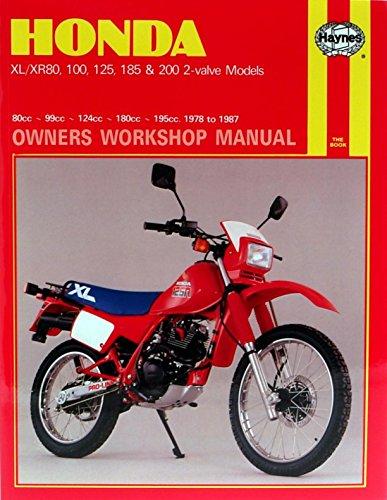 amazon com haynes honda xl xr 80 100 125 185 200cc 78 87 rh amazon com 200 Honda Cam honda xl 200 service manual free