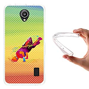 WoowCase - Funda Gel Flexible { Huawei Ascend Y635 } Chico Breakdance con Manchas de Color Fondo Multicolor Carcasa Case Silicona TPU Suave