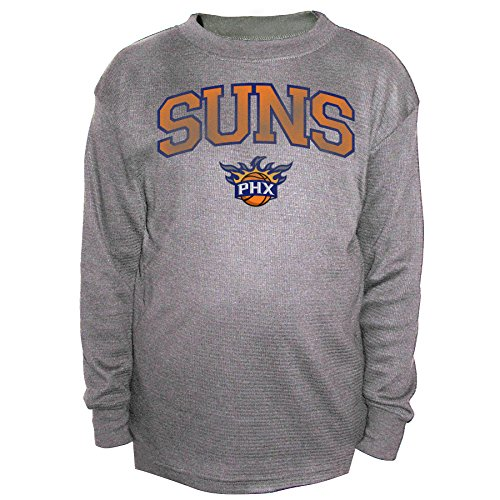 Thermal Phoenix Mens Shirt - NBA Phoenix Suns Men's B&T Team Thermal Long Sleeve Shirt, 2X, Charcoal