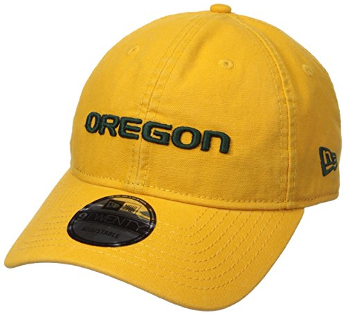 New Era NCAA Oregon Ducks Adult Core Classic Secondary 9TWENTY Adjustable Cap, One Size, Yellow