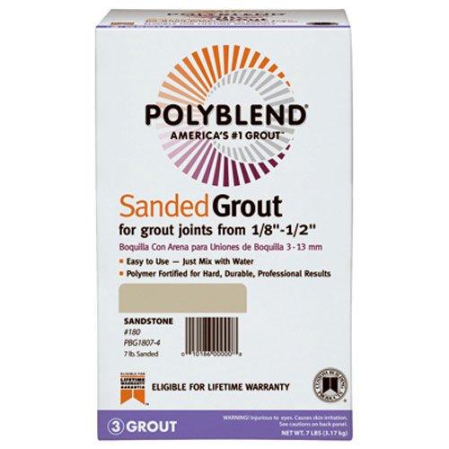 CUSTOM BLDG PRODUCTS PBG457-4 7 lb Wheat Sanded Polyblend Grout