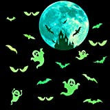 TUPARKA 41Pcs Halloween Decorations Set, Halloween Glow in Dark Sticker Spooky Decorations for Halloween Party Home Decorations