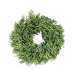 First of a Kind 8' Round Artificial Cedar Wreath, Green, Beautiful circular pattern