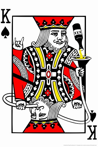 Party King Playing Card Funny Poster
