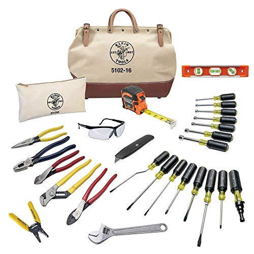 Electrician Hand Tools Set - 28 Piece, Pliers, Screwdrivers, Nut Drivers, Wrenches, More Klein Tools...