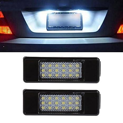 haichen 18SMD licencia número placa luz LED Super blanco 6000 K coche aparcamiento exterior lámpara: Amazon.es: Coche y moto