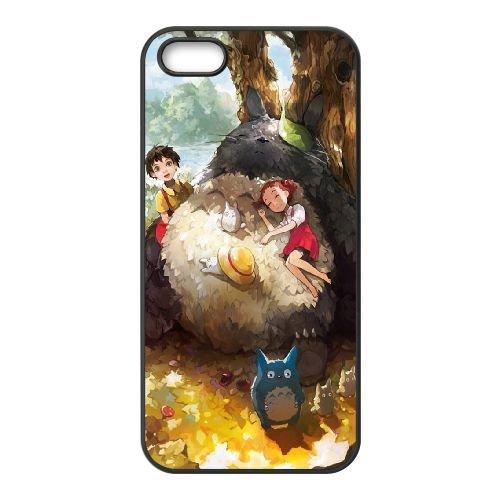 My Neighbor Totoro 003 coque iPhone 4 4S Housse téléphone Noir de couverture de cas coque EOKXLKNBC22974