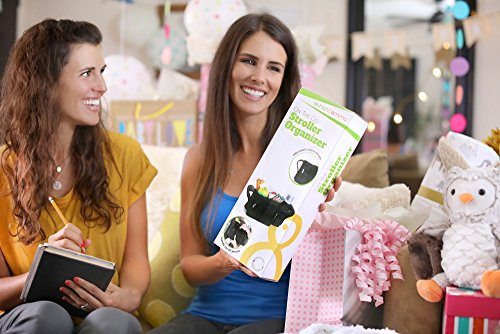 Large Product Image of BEST STROLLER ORGANIZER for Smart Moms, Premium Deep Cup Holders, Extra-Large Storage Space for iPhones, Wallets, Diapers, Books, Toys, iPads, The Perfect Baby Shower Gift!