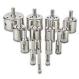 Soledi 15Pcs Diamond Drill Bits Coated Core Hole Saw Set Extractor Remover Tools