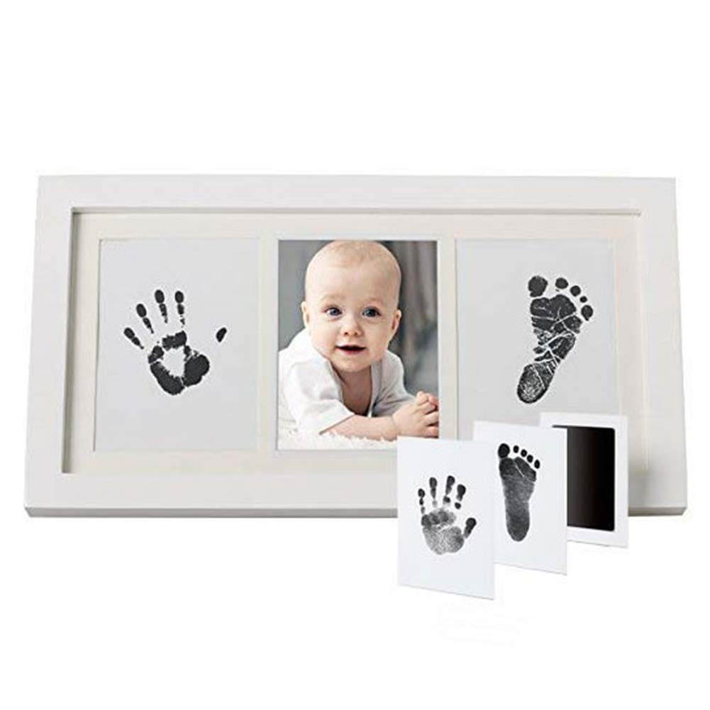 Newborn Baby Handprint and Footprint Photo Frame Kit Baby DIY Memory Unique Baby Shower Gifts Set Decorations for Room Wall Nursery Decor