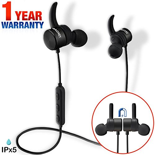 wireless bluetooth headphones zeus magnetic best wireless earbuds with mic workout sport. Black Bedroom Furniture Sets. Home Design Ideas