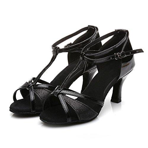 Ballsaal Schuhe Heel2 Latein Salsa Black stil Damen 255 Tanz Latein amp; 76¡± Standard qwH6WxdxAI