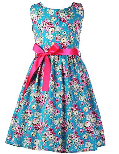 Floral Girls Dresses 7-16 Spring Dresses Clothes,C29,7-8 Years(140) -