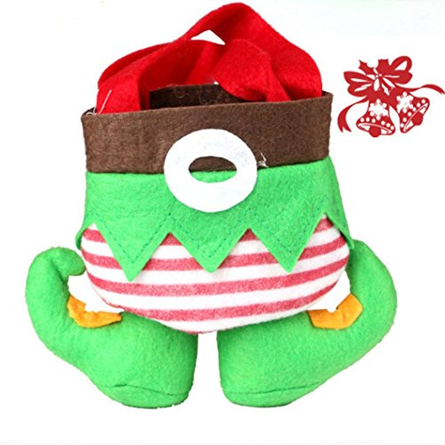 Makeup Christmas Elf (AIMTOPPY Creative Christmas Elf Candy Gift Bag Sack Stocking Decoration)