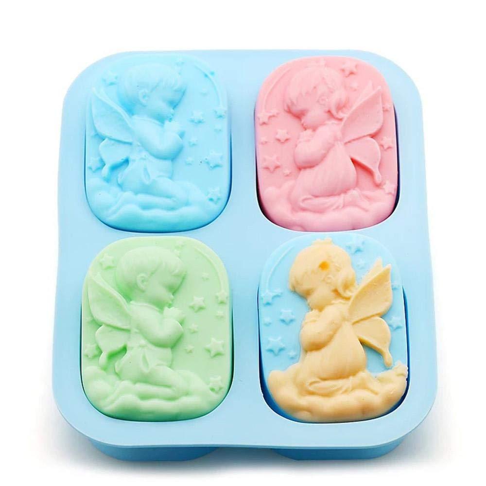 SHOUSBOXHI Molde de fabricación de jabón Molde de Silicona de ...