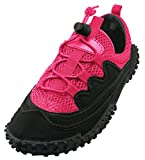 Cambridge Select Women's Closed Toe Mesh Quick Dry Stretch Elastic Lace-up Non-Slip Water Shoe,8 B(M) US,Fuchsia