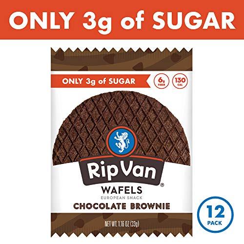 Rip Van Wafels Chocolate Brownie Stroopwafels - Healthy Snacks - Non GMO Snack - Keto Friendly - Office Snacks - Low Sugar (3g) - Low Calorie Snack - 12 Pack 3