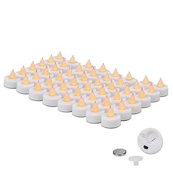 8844b6396a3 EverBrite 48PC Vela LED Sin Llama Vela Electrónica Lámpara de mesa Luz de Té  con Pilas