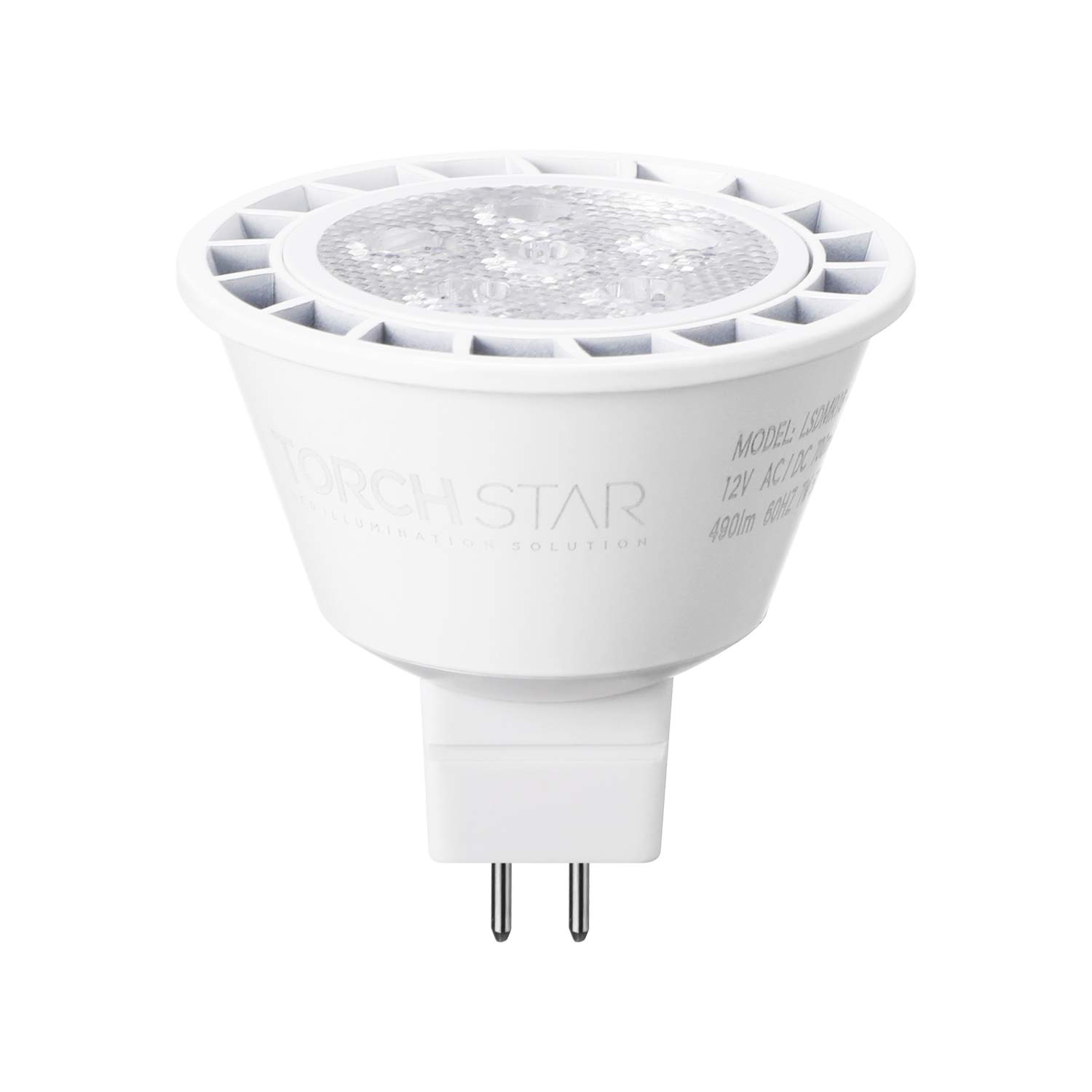 Energy Star 40/° Beam Angle 50W Eqv. TORCHSTAR Dimmable MR16 GU5.3 LED Light Bulb 490lm 7W 3 Years Warranty for Recessed Trim /& Track Light Bulb 5000K Daylight