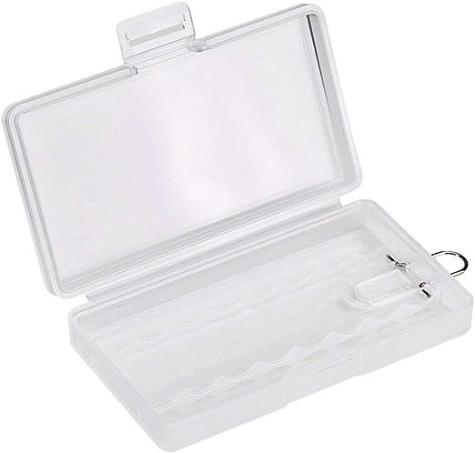 winwill 1 Caja de Almacenamiento para 8 Pilas AAA de plástico Duro ...