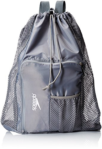 Speedo Deluxe Ventilator Mesh Equipment Bag, Frost Grey, 1SZ
