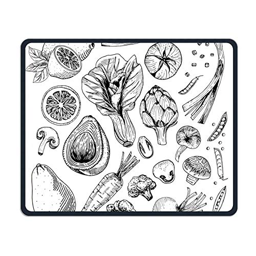 TELL ME Vegetarian Comfort Mouse Pad Rubber Mouse Pad