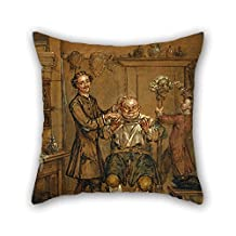 Oil Painting Marcellus Laroon The Younger - The Barber Throw Cushion Covers 20 X 20 Inches / 50 By 50 Cm Best Choice For Wife Girls Home Office Outdoor Her Home Office With Each Side