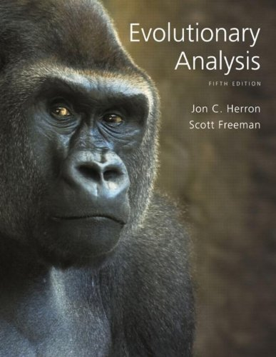 Evolutionary Analysis (5th Edition) cover