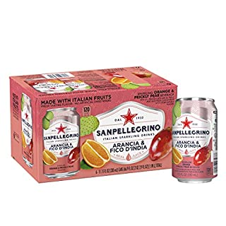 Sanpellegrino Prickly Pear and Orange Sparkling Fruit Beverage, 11.15 fl oz. Cans (6 Count)