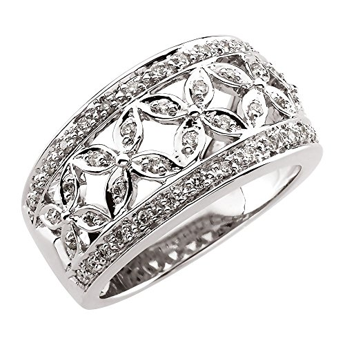 (Beautiful White gold 14K Floral-Inspired Band)