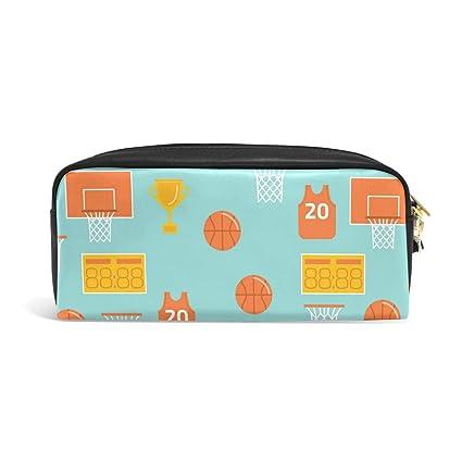 FANTAZIO Estuche para lápices de baloncesto: Amazon.es: Oficina y ...