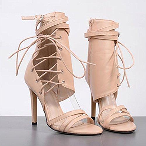 Plateau beige Tacco Tacco Tacco Sandalo Scarpe Eleganti Scarpe Donna estive   572023