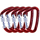 GM CLIMBING Ultra-Light Locking Carabiner Screw Gate Pack of 5