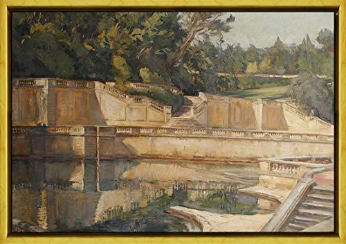 Nimes Garden - Berkin Arts Framed William Bruce Ellis Ranken Giclee Canvas Print Paintings Poster Reproduction(The Roman Gardens at Nimes) #XLK