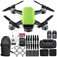 DJI Spark Portable Mini Drone Quadcopter Fly More Combo Ultimate Backpack Bundle (Meadow Green)