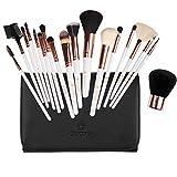 amoore Makeup Brushes Makeup Brush set Makeup Brush with Case Foundation Brush Powder Brush (18 pcs)