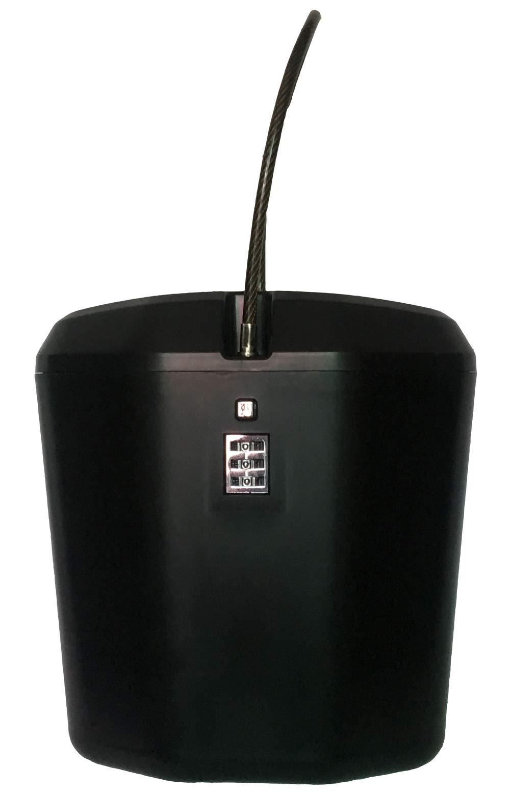 AZ ROB Portable Indoor/Outdoor Heavy-Duty Flexible Steel Cable Password Lock Box Safe,Keyless, one Key Password Setting (Black)