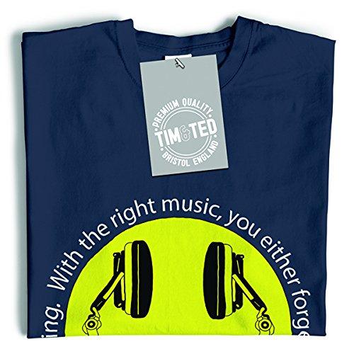 Tim and Ted Con la musica giusta dimenticare o ricordare tutto Cuffie T-Shirt Da Donna