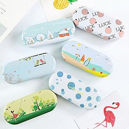 MSYOU Cartoon Eyeglass Case Cute Portable Protective Hard Glasses Case Strong Travel Glasses Box Holder for Women Girl Kids