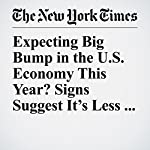 Expecting Big Bump in the U.S. Economy This Year? Signs Suggest It's Less Likely   Nelson D. Schwartz