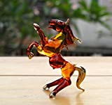 Handmade Horse Art Glass Blown Wild Animal Figurine - No.1