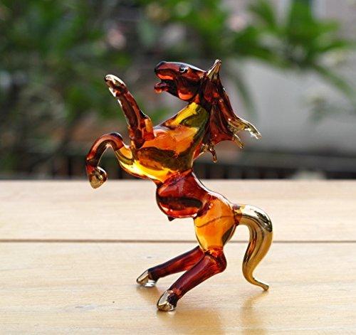 Handmade Horse Art Glass Blown Wild Animal Figurine - No.1 by We Are Handmade Figurine Art Glass Blown
